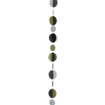 Gold/Silver/Black Circles Balloon Tails 1.2m - 5 PC