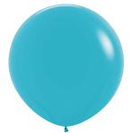 """Fashion Colour Solid Caribbean Blue 038 Latex Balloons 36""""/91.5cm - 2 PC"""
