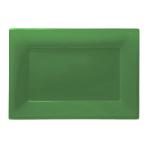 Festive Green Plastic Platters 33cm x 23cm - 6 PKG/3