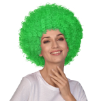Green Afro Wigs - 6 PC