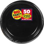 Jet Black Plastic Plates 28cm - 6 PKG/50