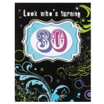 Large Invite 30th Birthday - 6 PKG/8