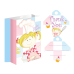 Little Cooks Loot Bags/Party Bags with Ribbon Tag - 6 PKG/8