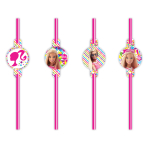 Barbie Sparkle Drinking Straws 24cm - 6 PKG/8