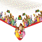 Super Mario Plastic Tablecovers 1.37m x 2.43m - 6 PC