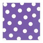 New Purple Dots Luncheon Napkins 33cm - 12 PKG/16