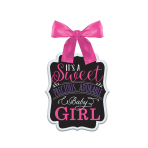 Pink MDF Signs - 6 PC