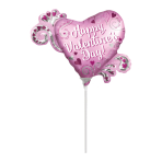 Happy Valentine's Day Satin Luxe MiniShape Balloons A30 - 5 PC