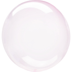 "Crystal Clearz Light Pink Packaged Balloons 18""/46cm S40 - 5 PC"