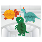 Dino-Mite Party Honeycomb Decorations - 6 PKG/3