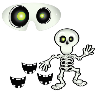 Pin-the-Smile-on-the-Skeleton Games - 12 PC
