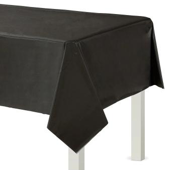 Black Plastic Tablecovers 1.37m x 2.74m - 12 PC