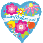 Mother's Day Blue Standard Foil Balloons S40 - 5 PC