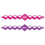 Barbie Sparkle Pink Rubber Bracelets - 6 PKG/4