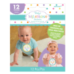 Baby Shower Milestone Stickers - 12 PKG/12