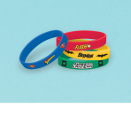 Justice League Rubber Bracelets - 6 PKG/4