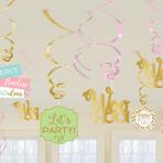 Confetti Fun Swirl Decorations - 12 PKG/12