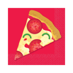 Pizza Party Beverage Napkins 25cm - 12 PKG/16