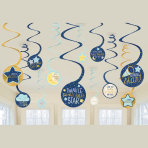 Twinkle Little Star Swirl Decorations - 12 PKG/12