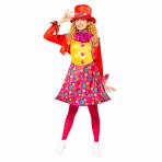 Circus Clown Costume - Size 8-10 - 1 PC