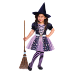 Starlight Witch Costume - Age 3-4 Years - 1 PC