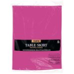 Magenta Table Skirt  - Plastic - 6 PKG