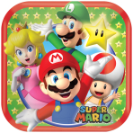 Super Mario Square Paper Plates 18cm - 6 PKG/8