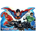 Justice League Thank You Cards & Envelopes - 6 PKG/8