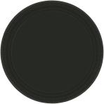 Jet Black Paper Plates 18cm - 6 PKG/20
