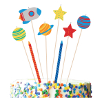 Blast Off Birthday Candle Sets - 6 PKG/8
