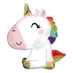 """Sitting Unicorn SuperShape Foil Balloons 27""""/68cm w x 29""""/73cm h P35 - 5 PC"""