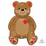 """Sitting Bear Ez-Fil Foil Multi Balloons 17""""/43cm w x 20""""/50cm h A75 - 6 PC"""