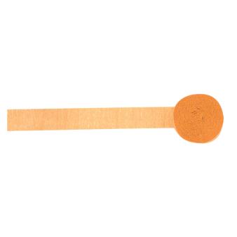 Bright Orange Crepe Streamers 4.4cm x 24.7m - 12 PC