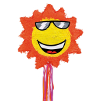 Sunshine Pull Pinatas - 4 PC