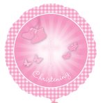 Christening Booties Pink - Standard HX Foil Balloons - S40 - 5 PC