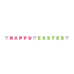 Happy Easter Glitter Letter Ribbon Banners - 6 PC