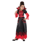 Children Vampire Queen Costume - Age 8-10 Years - 1 PC