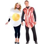 Adults Breakfast Buddies Couple Costume - Size Standard - 1 PC
