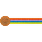 Rainbow Crepe Streamers 4.4.cm x 24.7m - 24 PKG