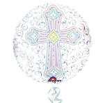 Radiant Cross Standard Foil Balloon S55 - 5PC