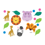 Jungle Friends Confetti 14g - 6 PC