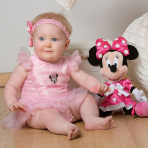 Disney Minnie Mouse Pink Sparkle Tutu with Headband - Age 3-6 Months - 1 PC