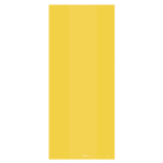Yellow Large Plastic Party Bags 29cm x 12.5cm x 9cm - 12 PKG/25