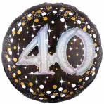 "Gold Sparkling Celebration Sparkling 40th Foil Multi-Balloons 36""/91cm w x 36""/91cm P75 - 5 PC"