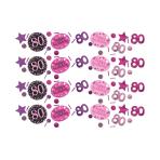 Pink Sparkling Celebration 80th Confetti 34g - 12 PC