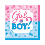 Girl or Boy Luncheon Napkins 33cm - 12 PKG/16