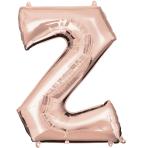 Letter Z Rose Gold SuperShape Foil Balloons 25/63cm w x 33/83cm h P50 - 5 PC
