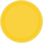 Sunshine Yellow Paper Plates 23cm - 6 PKG/20
