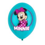 """Minnie Mouse 4 Colour Latex Balloons 11""""/27.5cm - 6 PKG/6"""
