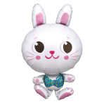 """Funny Bunny SuperShape Foil Balloons 22""""/55cm w x 34""""/86cm h P35 - 5 PC"""